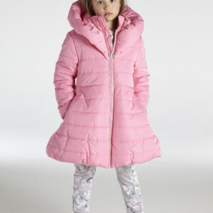 A*Dee Paisley Girls Pink Candy Padded Jacket with Large Collar