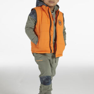 Mitch & Son Maryhill Boys Orange Padded Gilet with Piping
