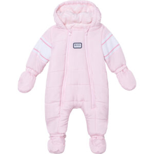 Hugo Boss Baby Girl Pale Pink Snowsuit with Logo on Back
