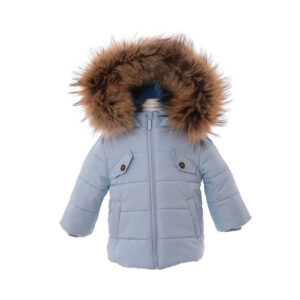 Bimbalo Boys Pale Blue Coat with Hood and Pockets AW21