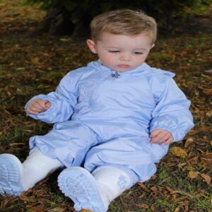 Little Lads & Ladies Baby Boys Blue Fleece Lined Puddle Suit AW21